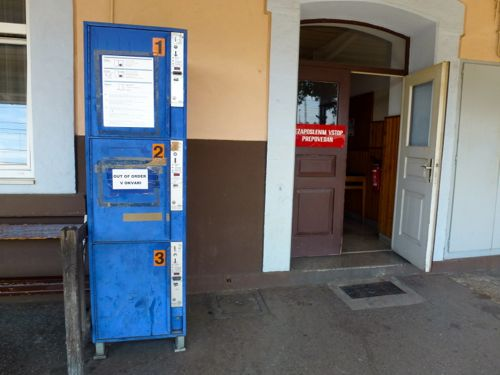 Lockers at Divača Station