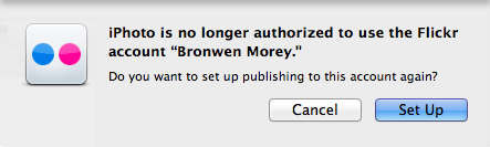 iPhoto is no longer authorized