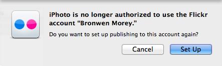 iPhoto is no longer authorized
