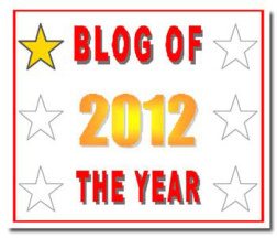 Blog of the Year 2012 - 1 star
